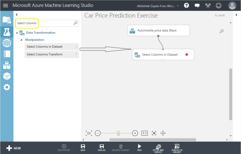 ML Select Column in Dataset 5